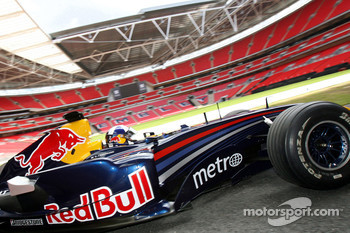 David Coulthard in the Red Bull Racing F1 car
