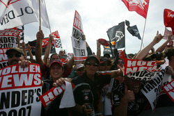 Holden Fans go wild