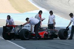 Pedro de la Rosa, Test Driver, McLaren Mercedes, slick tyres