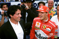Michael Schumacher with Sylvester Stallone