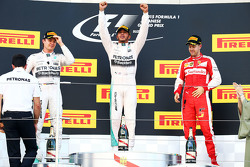 Pódio: vencedor Lewis Hamilton, Mercedes AMG F1 Team, segundo Nico Rosberg, Mercedes AMG F1 Team, terceiro Sebastian Vettel, Ferrari