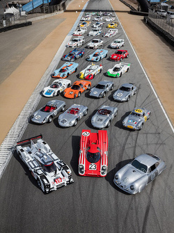 Porsche group photo for Rennsport Reunion V