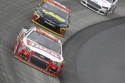 A.J. Allmendinger, JTG Daugherty Racing Chevrolet and Clint Bowyer, Michael Waltrip Racing Toyota