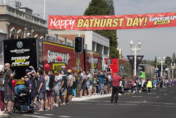 V8 Supercars Transporters through the streets of Bathurst