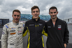 Top three qualifiers, Stoffel Vandoorne, ART Grand Prix, Pierre Gasly, DAMS, Alexander Rossi, Racing Engineering