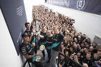 Formula 1 Photos - Lewis Hamilton, Nico Rosberg, Toto Wolff and company celebrate the 2015 Constructors Title