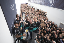 Mercedes F1 Constructors Title celebrations