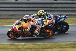 Dani Pedrosa, Repsol Honda Team and Valentino Rossi, Yamaha Factory Racing