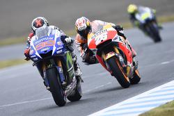 Jorge Lorenzo, Yamaha Factory Racing and Dani Pedrosa, Repsol Honda Team
