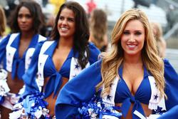 Dallas Cowboys Cheerleaders op de rijdersparade