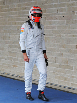 Jenson Button, McLaren in parc ferme