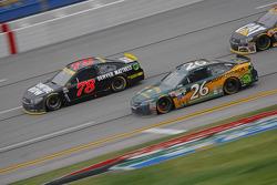 J.J. Yeley, BK Racing Toyota and Martin Truex Jr., Furniture Row Racing Chevrolet