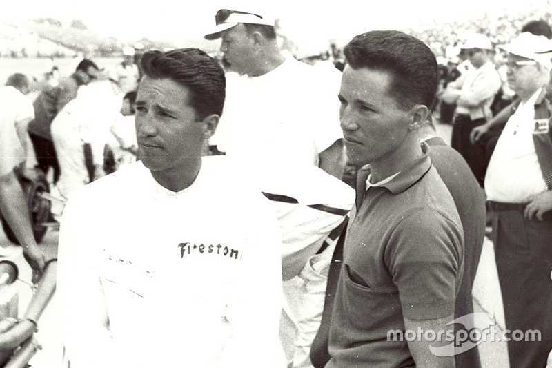 Mario and Aldo Andretti at Indy in 1965, the year in which Mario won Rookie of the Year and finished third.