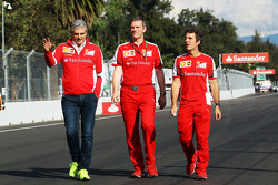 Maurizio Arrivabene, Ferrari Team Principal and James Allison, Ferrari Chassis Technical Director, walk the circuit