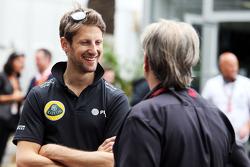 Romain Grosjean, Lotus F1 Team with Gene Haas, Haas Automotion President