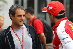 Juan Pablo Montoya, with Marc Gene, Ferrari Test Driver