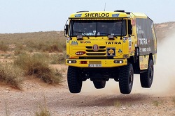 Loprais Tatra Team testing in Tunisia: Ales Loprais, Milan Holan, Ladislav Lala
