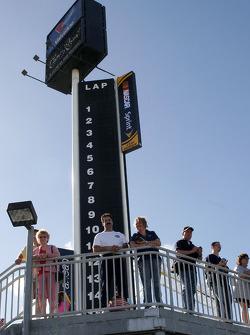 Fans watch testing