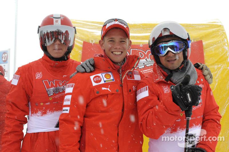 Kimi Raikkonen, Casey Stoner and Felipe Massa