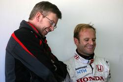 Ross Brawn Team Principal, Honda Racing F1 Team, Rubens Barrichello, Honda Racing F1 Team