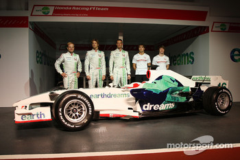 Rubens Barrichello, Honda Racing F1 Team, Jenson Button, Honda Racing F1 Team, Alexander Wurz, Test Driver, Honda Racing F1 Team, Luca Filippi, Honda Racing F1 Team, Mike Conway, Test Driver, Honda Racing F1 Team