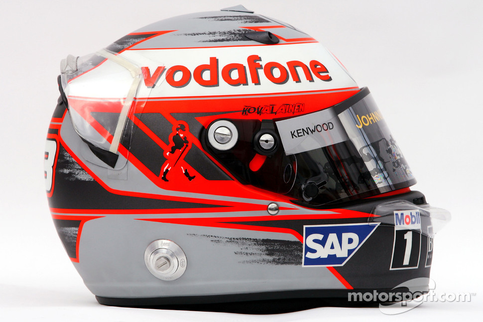 Helmet of Heikki Kovalainen, McLaren Mercedes