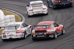 #80 Synergy Racing Porsche GT3 Cup: Lance Arnold, Damien Faulkner, Mark Greenberg, Jan Heylen, #87 Farnbacher Loles Porsche GT3 Cup: Timo Bernhard, Pierre Ehret, Dominik Farnbacher, Dirk Werner
