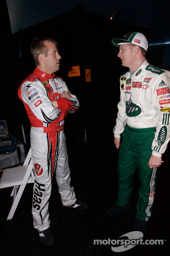 Jeremy Mayfield and Dale Earnhardt Jr.