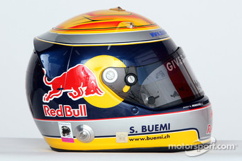 Helmet of Sébastien Buemi, test driver, Red Bull Racing