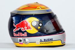 Helmet of Sébastien Buemi, test driver, Red Bull Racing