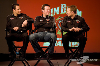 Jim Beam 1100 contest press conference: Helio Castroneves, Robby Gordon and Ryan Briscoe