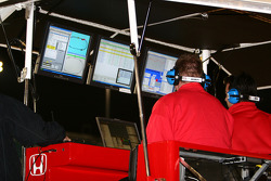 Target Chip Ganassi Racing monitors the action