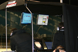 Team Penske monitors the action