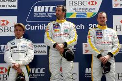 Podium, Yvan Muller, SEAT Sport, SEAT Leon TDI, Rickard Rydell, SEAT Sport, SEAT Leon TDI, Augusto Farfus, BMW Team Germany, BMW 320si
