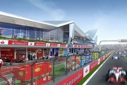 Silverstone Circuit Vision rendering