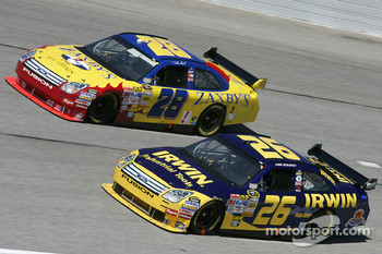 Jamie McMurray and Travis Kvapil