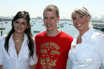 Sebastian Vettel, Scuderia Toro Rosso with girls