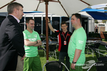 Ross Brawn Team Principal, Honda Racing F1 Team, Anthony Davidson, Super Aguri F1 Team