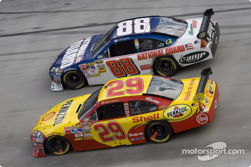 Kevin Harvick and Dale Earnhardt Jr.