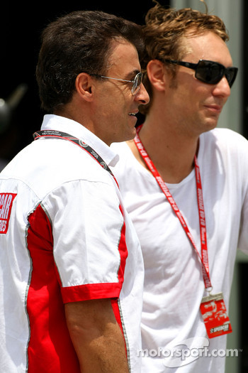 Jean Alesi and Mathias Lauda