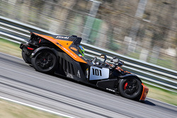 #101 KTM - X-Bow: Katerina Felser make a few demo laps with a camera