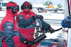 Audi crew members