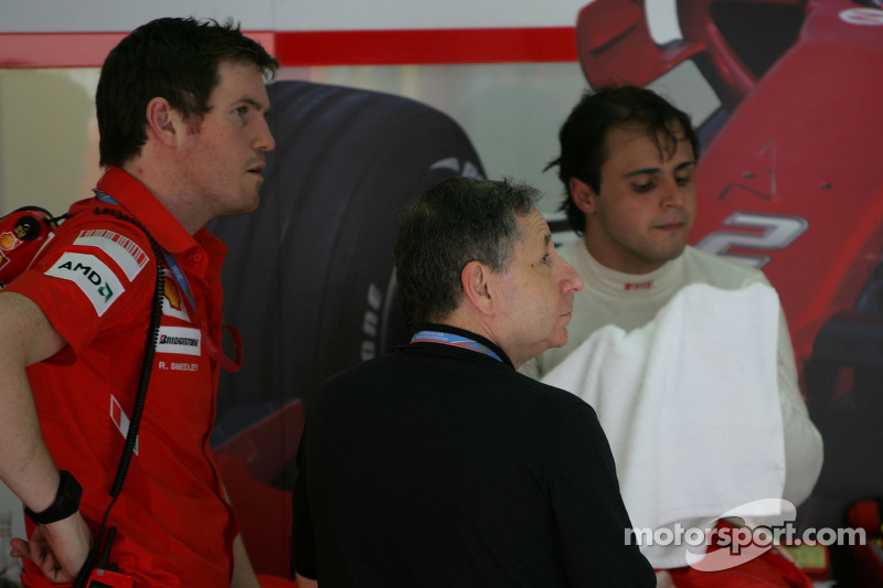 Rob Smedly, Scuderia Ferrari, Track Engineer of Felipe Massa, Jean Todt, Scuderia Ferrari, Special Appointments and Felipe Massa, Scuderia Ferrari