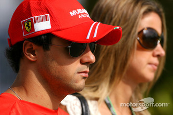 Felipe Massa, Scuderia Ferrari and his wife Rafaela
