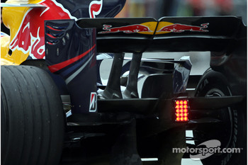 The rear wing of the RB4 of Mark Webber, Red Bull Racing
