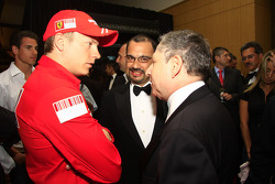 Gala Dinner: Kimi Raikkonen with Jean Todt