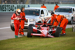 Dan Wheldon after his crash
