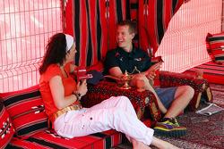 Tanja Bauer and Sebastian Vettel