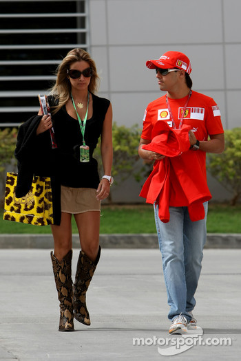 Rafaela Bassi, Girl Friend, Wife of Felipe Massa and Felipe Massa, Scuderia Ferrari