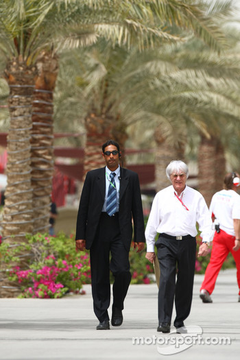Bernie Ecclestone with his body guard